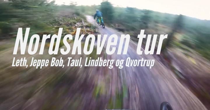 Tur i Nordskoven med Leth, Bob, Lindberg, Taul og Qvortrup